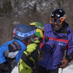 Ski Instructor with students