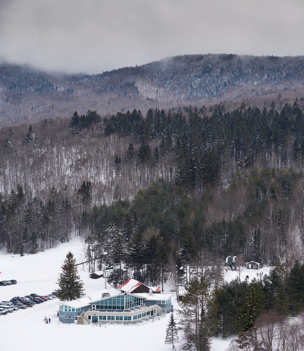 view of lodge from worth mountain chair
