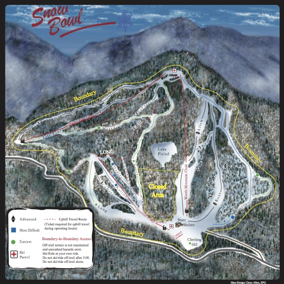 Snow Bowl Trail Map 15